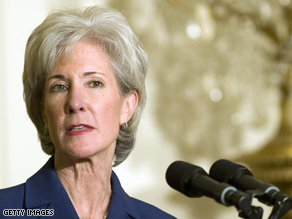 Sebelius is Obama's nominee for Health and Human Services Secretary.