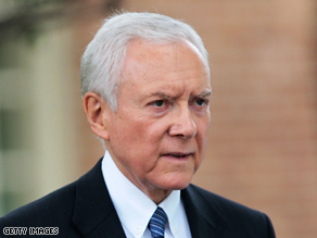Sen. Orrin Hatch withdrew from bipartisan health care talks on Wednesday.