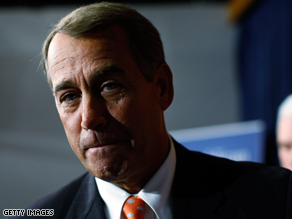 Boehner took time Thursday to critique reporters&#039; hair styles.