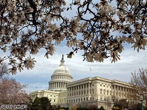 Organizing for America dispatched a corps of volunteers to Capitol Hill on Wednesday.