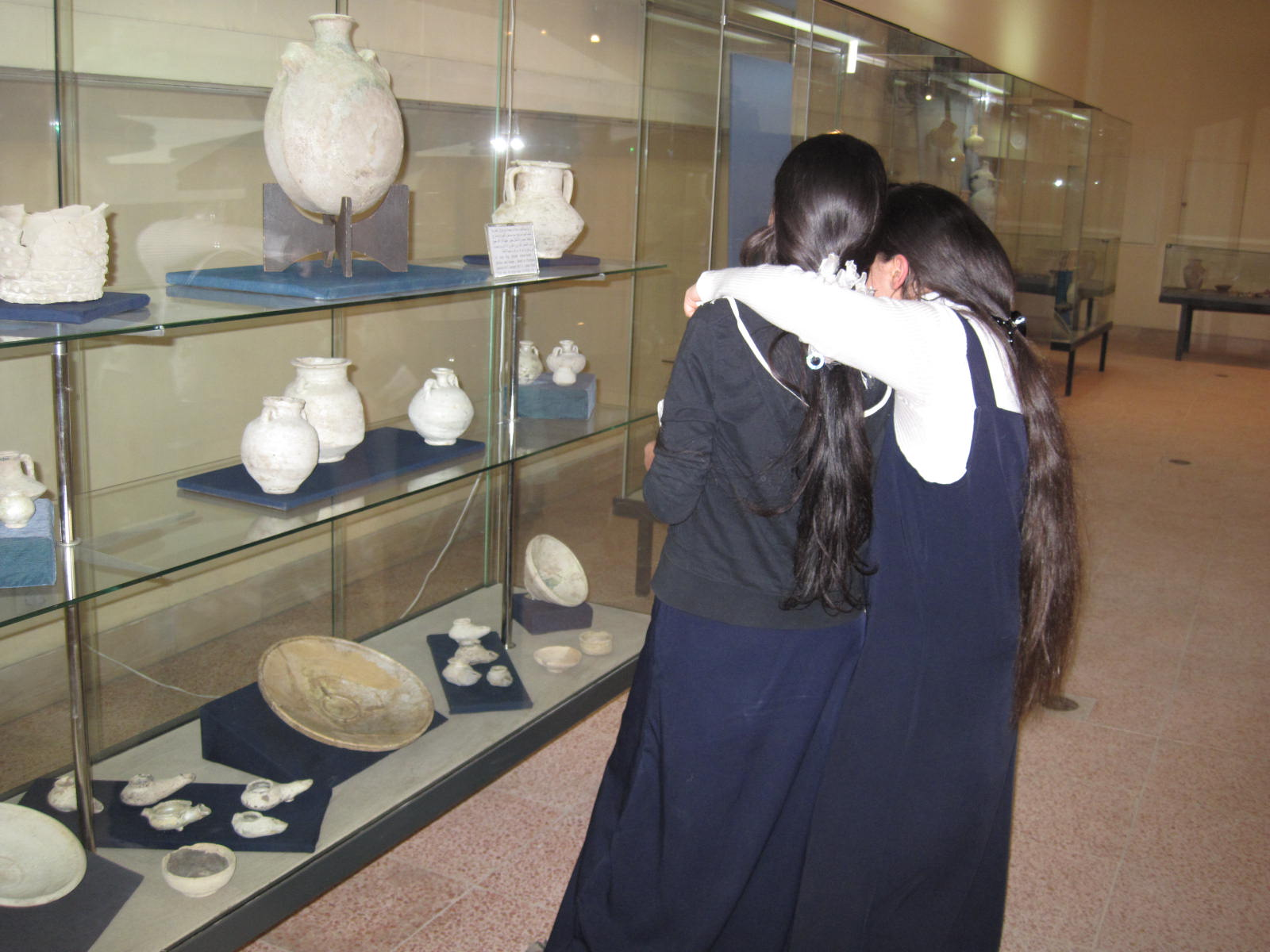 Mohammed Tawfeeq/CNN. Iraqi schoolgirls discover their National Museum.