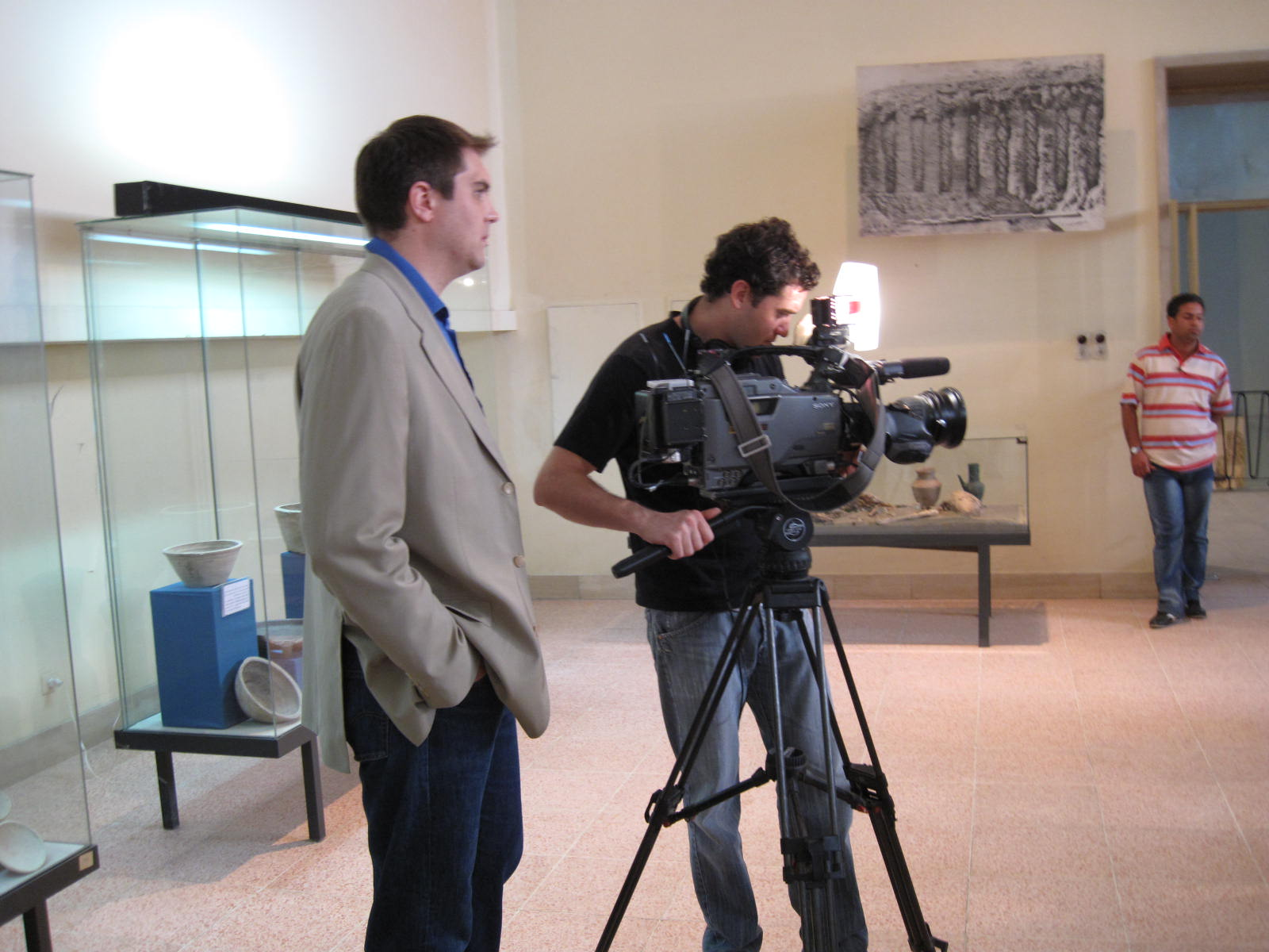 Mohammed Tawfeeq/CNN. CNN Correspondent Fred Pleitgen and Cameraman Ben Adams during the shoot