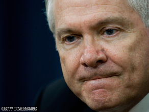  U.S. Defense Secretary Robert Gates is standing by new defense budget allocations.