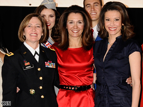 Kiran Chetry with the two Women of the Year, Major General Patricia D. Horoho and Stephanie George, Executive of Time, Inc.