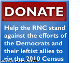 The RNC sent out a fundraising e-mail Thursday that focuses on the 2010 census and the community organizing group ACORN.