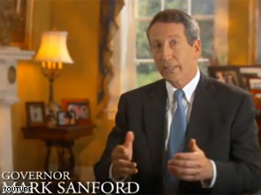 Sanford is going up with a television ad to make his case for rejecting stimulus money.