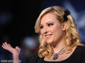 Meghan McCain addressed a group of gay Republicans in Washington Saturday.