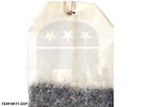The RNC has a Web page that allows supporters to mail virtual tea bags to four leading Democrats.