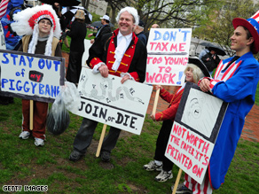 Activists nationwide are holding gatherings on Tax Day, April 15.