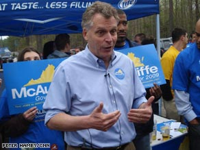 Terry McAuliffe arrived at the Shad Planking making no apologies for the amount of money he's spending in the 2009 race.