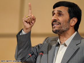 Ahmadinejad delivers his speech Monday.