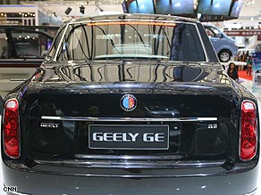 Chinese automaker Geely unveiled its GE in Shanghai.
