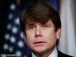 Eight laptop computers were stolen from lawyers representing former Illinois Gov. Rod Blagojevich.