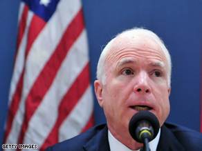 McCain said a recent DHS report is 'insulting' to veterans.