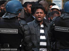 Pro-Tamil protests in Paris, France.