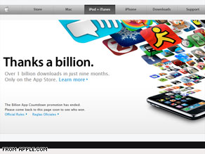 1 billion iPhone apps downloaded