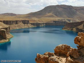Lake Kara is the largest of the six lakes in Band-e-Amir.