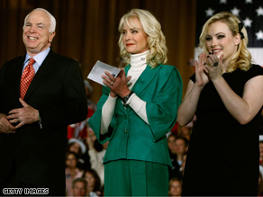 Meghan McCain (above: with parents John and Cindy McCain) has become one of the hottest young GOP pundits.