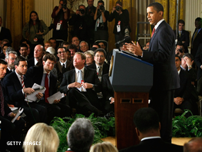 Obama's last prime-time press conference was on March 24.