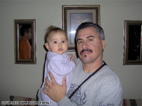 A family photo of Harrison with his niece, Andrea.