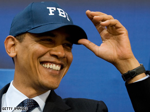 Obama got a big reaction at the FBI Tuesday.