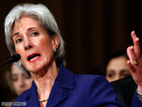 The Senate has confirmed Sebelius to head the HHS.