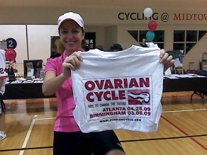 KP pedaled her butt off, and was one of the top 10 fundraisers Saturday!
