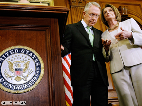 Harry Reid and Nancy Pelosi head up the Democratic leadership.