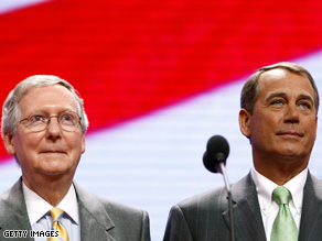 Mitch McConnell and John Boehner head up the GOP leadership.