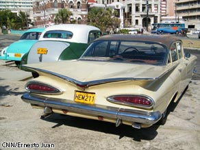 Classic American cars in Havana, Cuba.