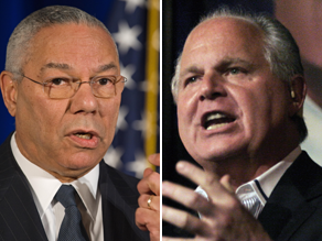 Rush Limbaugh criticized Colin Powell as being part of the &#039;stale, the old, the worn-out GOP.&#039;