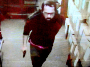 Surveillance video at Wesleyan University bookstore captures gunman who killed student Johanna Justin-Jinich.