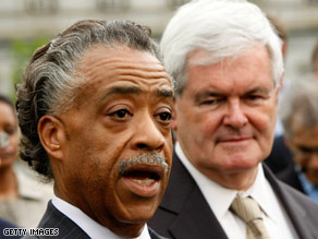 Newt Gingrich and Al Sharpton visited the White House Thursday to meet with the president about education.