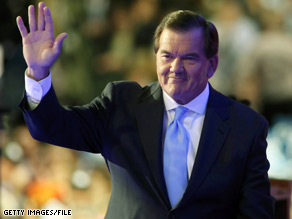 Former Pennsylvania Gov. and Bush Homeland Security Secretary Tom Ridge announced Thursday that he will not run for Senate in 2010.