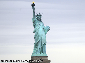 Interior Secretary Ken Salazar announced Friday that the crown of the Statue of Liberty will re-open on July 4.