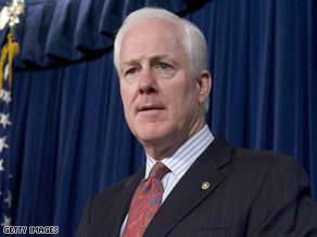 Cornyn, the head of the NRSC, endorsed Crist's Senate bid.