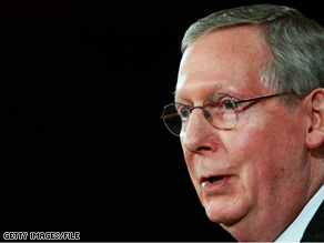 Senate Minority Leader Mitch, pictured, has endorsed Florida Gov. Charlie Crist in the Senate bid Crist announced Tuesday.