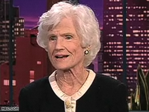 McCain's mother, Roberta, appeared on The Tonight Show with Jay Leno Wednesday.