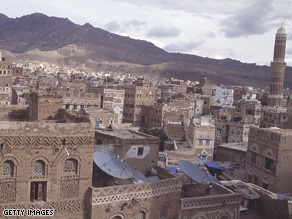 A city in Yemen, one of the countries Guillebeau plans on visiting this year.