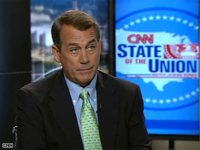 The president has a tough job to do, House Minority Leader John Boehner said Sunday on CNN&#039;s State of the Union.