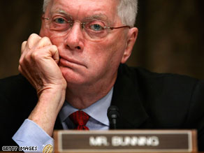 Sen. Jim Bunning's decision to block a bill extending unemployment benefits has drawn criticism from candidates looking to replace the Republican in the Senate.
