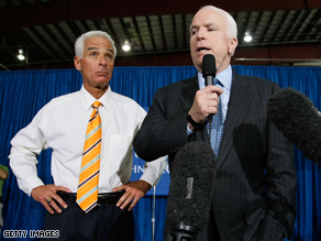 Crist's support was crucial for McCain in the state's Republican presidential primary last year.