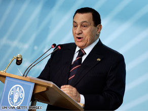 Egyptian leader Hosni Mubarak has canceled a May 26 meeting with President Obama citing the death of his grandson.