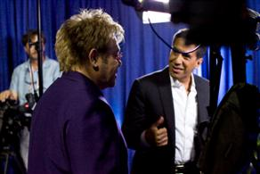 A behind the scenes look after we finished interviewing Sir Elton John.