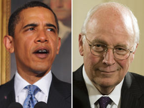 Obama hit back at Cheney&#039;s comments in an interview on NPR Monday.