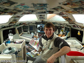 Mike Perham holds the world record for being the youngest person to sail across the Atlantic all alone.