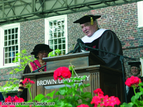 Sidney Frank getting honorary degree in 2005. 