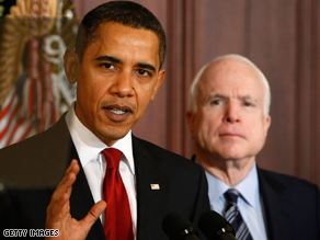 Obama will deliver a commencement address with multiple McCains in the audience.