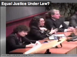 A new Web ad attacks Sotomayor for saying 'policy is made' in appellate courts.