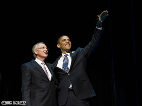 President Obama headlined a fundraiser for Senate Majority Leader Harry Reid Wednesday.